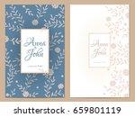 delicate flowers wedding... | Shutterstock .eps vector #659801119