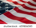 usa flag background. the star... | Shutterstock . vector #659806585
