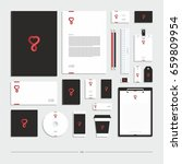corporate identity  stationery... | Shutterstock .eps vector #659809954