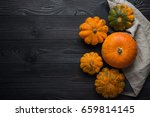 Composition Of Pumpkin On A...