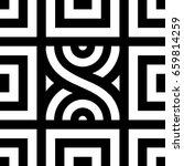seamless tile with black white...   Shutterstock .eps vector #659814259
