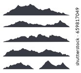 mountains silhouettes on the... | Shutterstock .eps vector #659817049