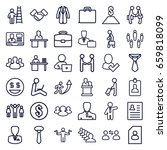 businessman icons set. set of... | Shutterstock .eps vector #659818099