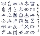antique icons set. set of 36... | Shutterstock .eps vector #659818135