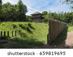 reconstructed roman limes and... | Shutterstock . vector #659819695