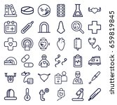 medical icons set. set of 36... | Shutterstock .eps vector #659819845