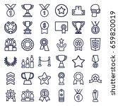 award icons set. set of 36... | Shutterstock .eps vector #659820019