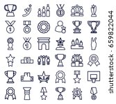 victory icons set. set of 36... | Shutterstock .eps vector #659822044