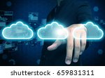 businessman press cloud | Shutterstock . vector #659831311