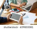 good deal  cheerful young man... | Shutterstock . vector #659833381
