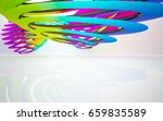 abstract architectural interior ... | Shutterstock . vector #659835589