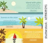 palm coast rest banner... | Shutterstock . vector #659839291