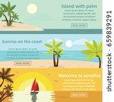 palm coast rest banner... | Shutterstock . vector #659839291