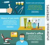 dentist tool banner horizontal