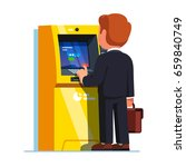 business man entering pin code... | Shutterstock .eps vector #659840749