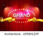 grand opening cutting red... | Shutterstock .eps vector #659841229
