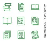 publication icons set. set of 9 ... | Shutterstock .eps vector #659842429