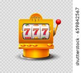 golden slot machine wins the... | Shutterstock .eps vector #659842567