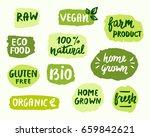 bio natural food concept. set... | Shutterstock . vector #659842621