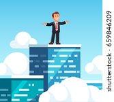 businessman leader standing on...   Shutterstock .eps vector #659846209