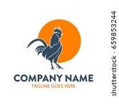 rooster logo | Shutterstock .eps vector #659853244