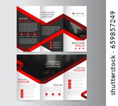 red label business trifold... | Shutterstock .eps vector #659857249