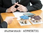 banks refuse loans to buy homes.... | Shutterstock . vector #659858731