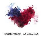 acrylic colors in water. ink... | Shutterstock . vector #659867365