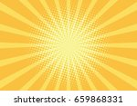 yellow rays pop art background. ... | Shutterstock .eps vector #659868331