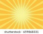 yellow rays pop art background. ... | Shutterstock .eps vector #659868331