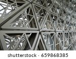 close up of gridshell structure | Shutterstock . vector #659868385
