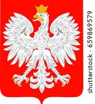 coat of arms of poland is a... | Shutterstock .eps vector #659869579
