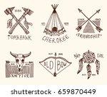 set of engraved vintage  hand... | Shutterstock .eps vector #659870449