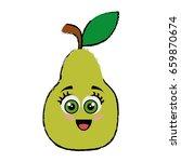 pear cartoon face | Shutterstock .eps vector #659870674