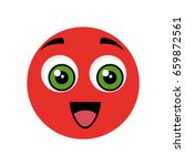cute cartoon face | Shutterstock .eps vector #659872561