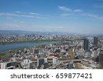 osaka urban  rooftop view ... | Shutterstock . vector #659877421