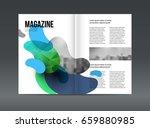 modern brochure layout design... | Shutterstock .eps vector #659880985