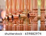 copper pipes. close up of... | Shutterstock . vector #659882974