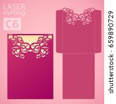 die laser cut wedding card... | Shutterstock .eps vector #659890729