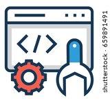 development vector icon    Shutterstock .eps vector #659891491