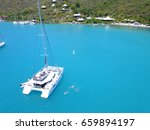 catamaran drone picture from... | Shutterstock . vector #659894197
