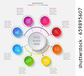bright circular infographics of ... | Shutterstock .eps vector #659895607
