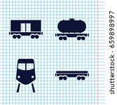 set of 4 rail filled icons such ... | Shutterstock .eps vector #659898997