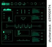 futuristic virtual graphic...   Shutterstock .eps vector #659900974