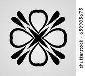 vector ornamental abstract logo ... | Shutterstock .eps vector #659905675