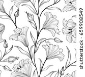 floral leaves seamless pattern. ...   Shutterstock .eps vector #659908549