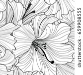 floral seamless pattern. flower ... | Shutterstock .eps vector #659908555