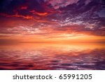 Sea Sunset Landscape Image