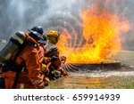 firefighter training | Shutterstock . vector #659914939