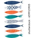 Pattern Of Fish In The Style O...